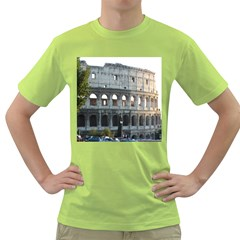 Roman Colisseum 2 Green Mens  T-shirt