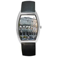 Roman Colisseum 2 Black Leather Watch (tonneau)