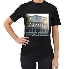 Roman Colisseum 2 Twin Sided Black Womens'' T Shirt