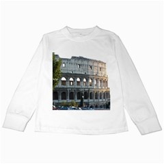 Roman Colisseum 2 White Long Sleeve Kids'' T-shirt
