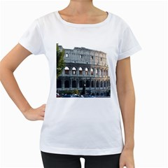 Roman Colisseum 2 White Oversized Womens'' T-shirt
