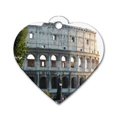 Roman Colisseum 2 Twin Sided Dog Tag (heart)