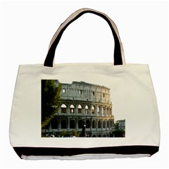 Roman Colisseum 2 Twin-sided Black Tote Bag