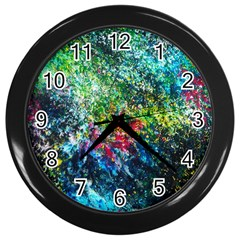 Raw Truth By Mystikka  Black Wall Clock