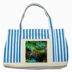 Raw Truth By Mystikka  Blue Striped Tote Bag