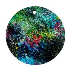 Raw Truth By Mystikka  Twin Sided Ceramic Ornament (round)