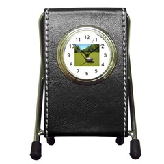 Glf Clb Stationery Holder Clock