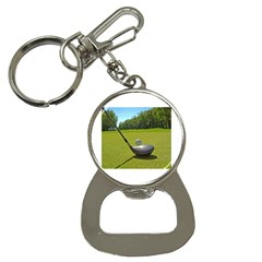 Glf Clb Key Chain with Bottle Opener
