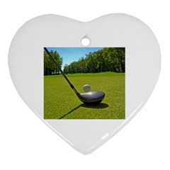 Glf Clb Heart Ornament (two Sides)