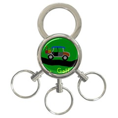 Gone Golfin 3 Ring Key Chain