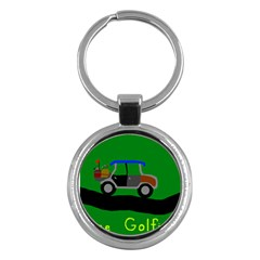 Gone Golfin Key Chain (round)
