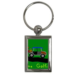 Gone Golfin Key Chain (Rectangle)