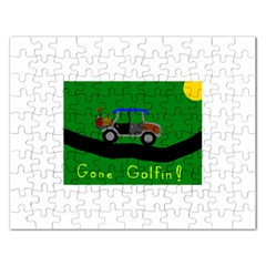 Gone Golfin Jigsaw Puzzle (Rectangle)