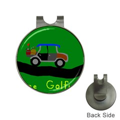 Gone Golfin Hat Clip with Golf Ball Marker