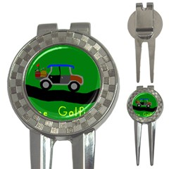 Gone Golfin Golf Pitchfork & Ball Marker
