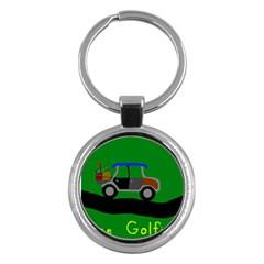 Gone Golfin Key Chain (Round)