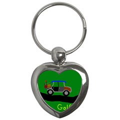 Gone Golfin Key Chain (Heart)