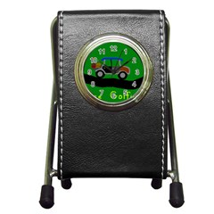 Gone Golfin Stationery Holder Clock