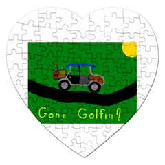 Gone Golfin Jigsaw Puzzle (Heart)