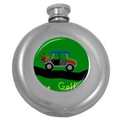 Gone Golfin Hip Flask (Round)