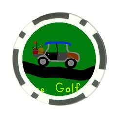 Gone Golfin Poker Chip