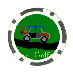 Gone Golfin Poker Chip