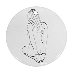 Bound Beauty Ceramic Ornament (Round)