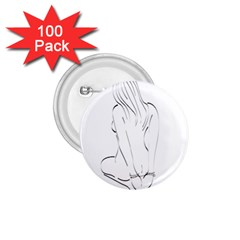 Bound Beauty 100 Pack Small Button (Round)