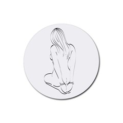 Bound Beauty Rubber Drinks Coaster (Round)