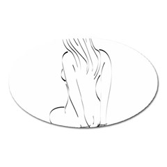 Bound Beauty Large Sticker Magnet (Oval)
