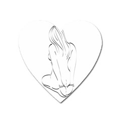 Bound Beauty Large Sticker Magnet (heart)