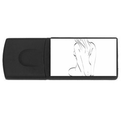 Bound Beauty 2Gb USB Flash Drive (Rectangle)