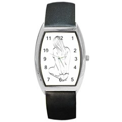 Bound Beauty Black Leather Watch (Tonneau)