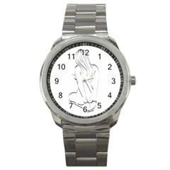 Bound Beauty Stainless Steel Sports Watch (round)