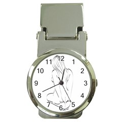 Bound Beauty Chrome Money Clip with Watch