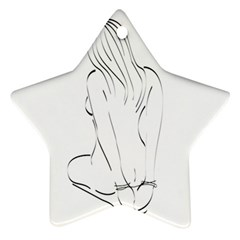Bound Beauty Twin-sided Ceramic Ornament (Star)