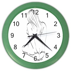 Bound Beauty Colored Wall Clock