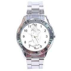 Bound Beauty Stainless Steel Analogue Watch (Round)