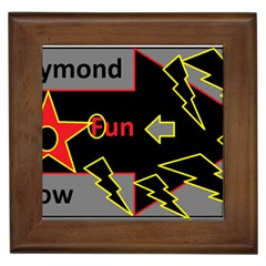 Raymond Fun Show 2 Framed Ceramic Tile