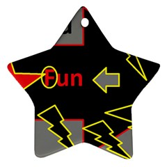 Raymond Fun Show 2 Ceramic Ornament (Star)