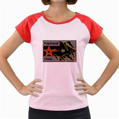 Raymond Fun Show 2 Colored Cap Sleeve Raglan Womens  T-shirt