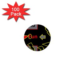Raymond Fun Show 2 100 Pack Mini Magnet (round)