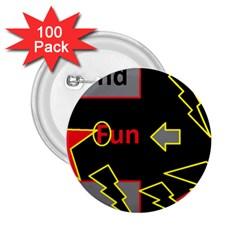 Raymond Fun Show 2 100 Pack Regular Button (round)