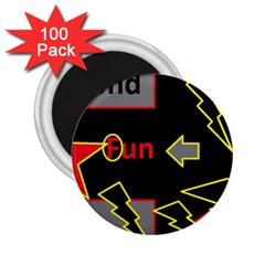 Raymond Fun Show 2 100 Pack Regular Magnet (Round)