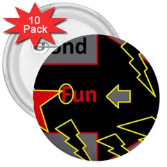 Raymond Fun Show 2 10 Pack Large Button (Round)