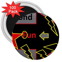 Raymond Fun Show 2 100 Pack Large Magnet (Round)