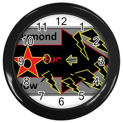 Raymond Fun Show 2 Black Wall Clock