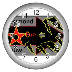Raymond Fun Show 2 Silver Wall Clock