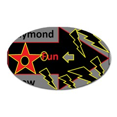 Raymond Fun Show 2 Large Sticker Magnet (Oval)