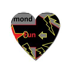 Raymond Fun Show 2 Large Sticker Magnet (heart)